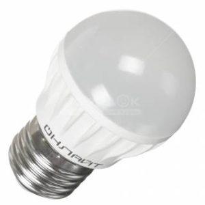Лампа светодиодная OLL-G45-6-230-4K-E27 ОНЛАЙТ