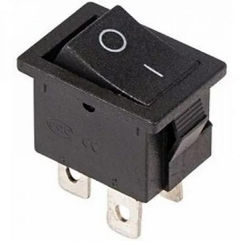 Выключатель клавишный 250V 6А (4с) ON-OFF черный Mini