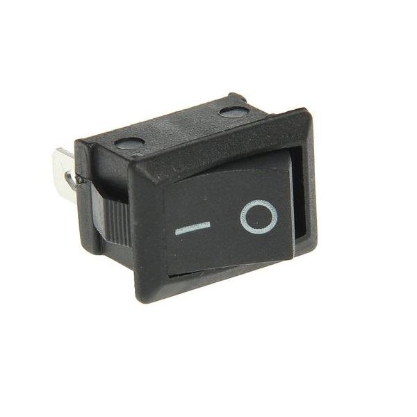 Выключатель клавишный 250V 6А (3с) ON-ON черный Mini