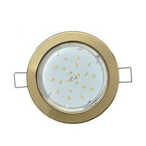 Светильник металл. встраиваемый плоский золото 101x16 TC5325ECB GX53-H6 Ecola Light