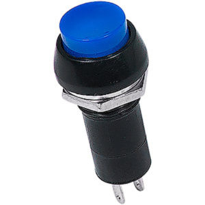 Выключатель-кнопка 250V 1А (2с) ON-OFF синяя (PBS-11А)