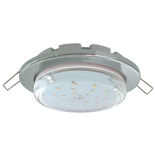 Светильник металл. встраиваемый плоский хром 101x16 TC5325ECB GX53-H6 Ecola Light