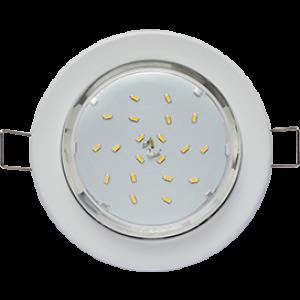Светильник металл. встраиваемый плоский белый 101x16 TC5325ECB GX53-H6 Ecola Light