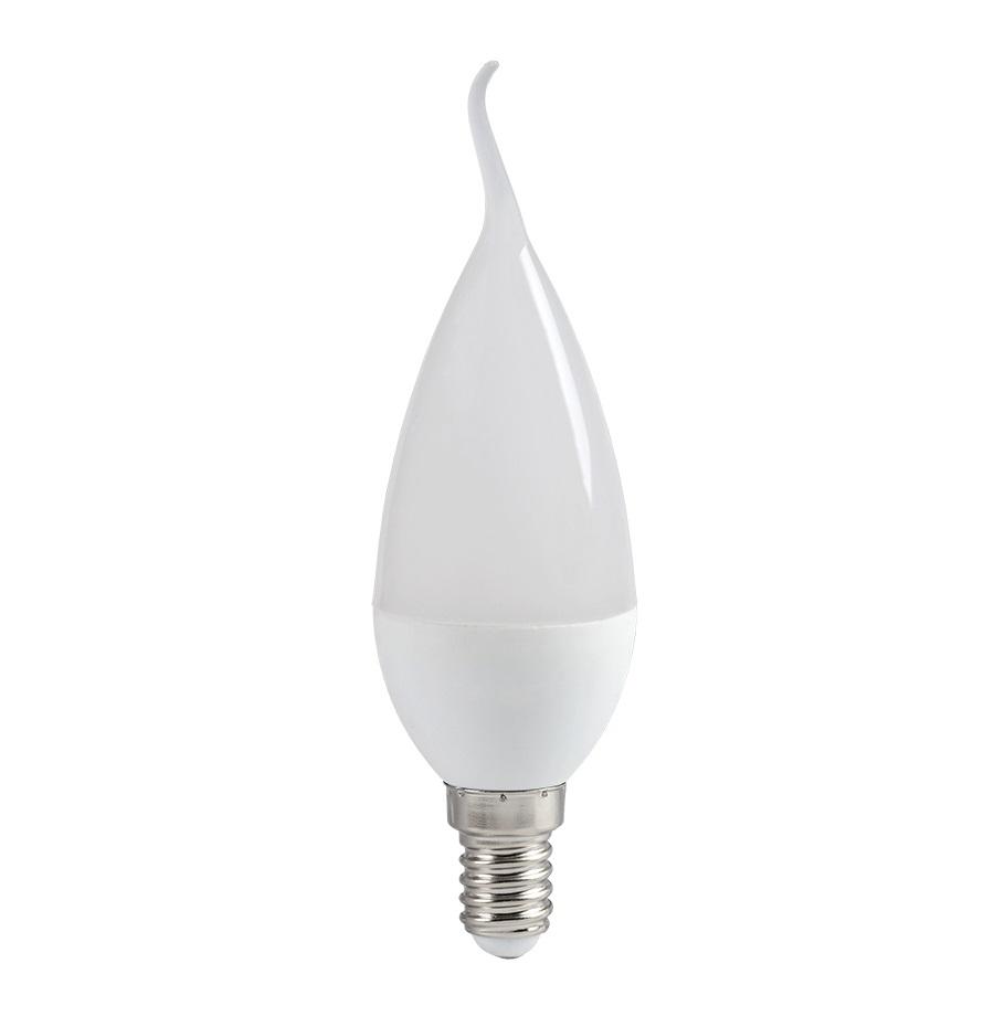 Лампа светодиодная ECO СВ35 свеча на ветру 5Вт 230В 4000К Е14 IEK