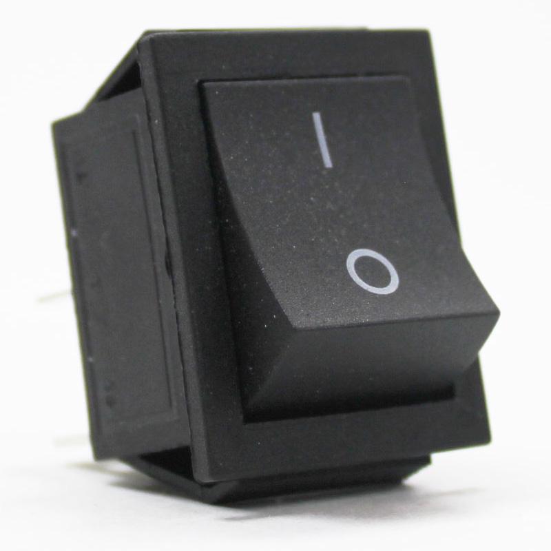 Выключатель клавишный 250V 15А(4с) ON-OFF черный