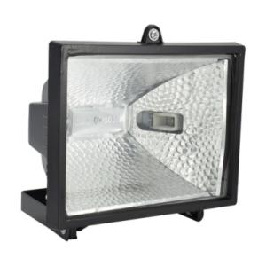 Прожектор галогенный RFG 001 Black 500W 230V R7s IP44 c блоком защиты