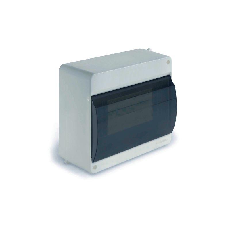 Щит навесной 6-8 модулей с дверцей белый УПМ IP40