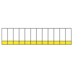 "Наклейка ""Модули"", р-р 5*21,6см, цветн., с/к из пленки ПВХ, с подрезкой, (на 12 модулей)"