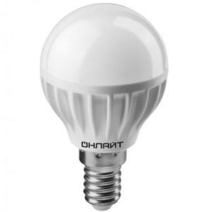 Лампа светодиодная OLL-G45-10-230-2.7K-E14 ОНЛАЙТ