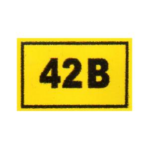 """Наклейка """"42в"""", р-р 1*1,5см, цветн., с/к из пленки ПВХ, с подрезкой"""