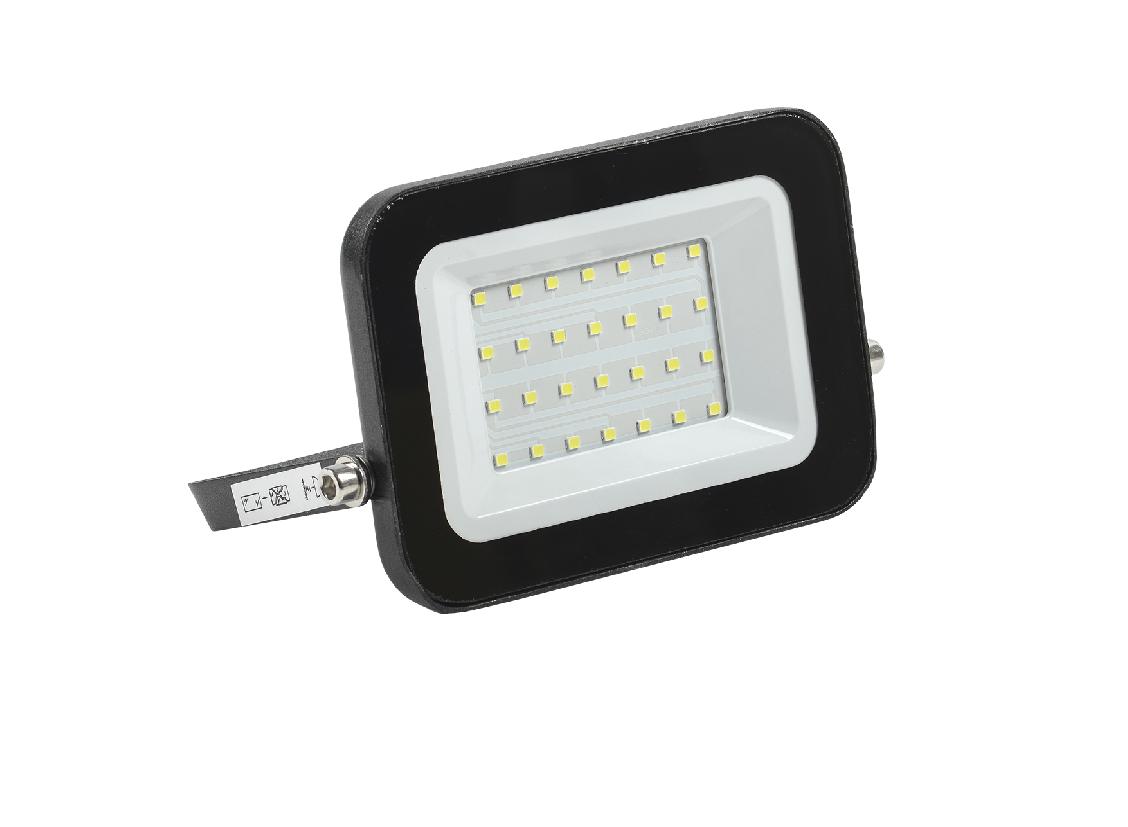 Прожектор светодиодный СДО 06-30 черный IP65 6500К IEK