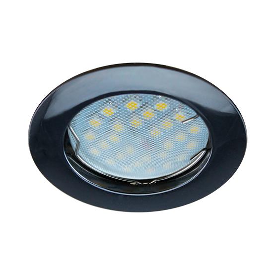 Светильник встраиваемый плоский черный 30*80 MR16 DL90 GU5.3 Ecola Light