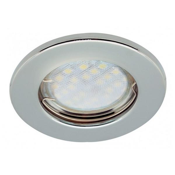 Светильник встраиваемый плоский хром 30*80 MR16 DL90 GU5.3 Ecola Light
