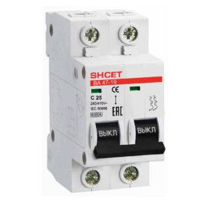 Автоматический выключатель ВА 47-19 2P 25А 6kA