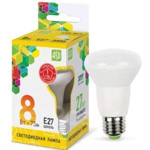 Лампа светодиодная LED-R63-standart 8Вт 230В Е27 4000К 720Лм ASD