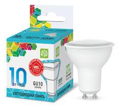 Лампа светодиодная LED-JCDRC-standart 10Вт 230В GU10 4000К 900Лм ASD