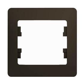 Рамка GSL000801 1-постовая (шоколад) Серия GLOSSA, Schneider