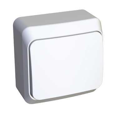 Выключатель о/у 1кл (белый) (250В, 10АХ) ВА10-001В Серия ЭТЮД, Schneider