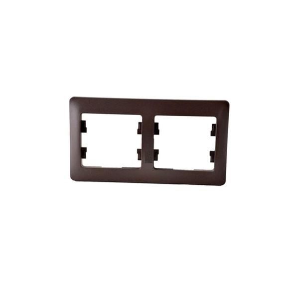 Рамка GSL000802 2-постовая горизонтальная (шоколад) Серия GLOSSA, Schneider