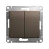 Выключатель GSL000851 2кл с/у 10А (шоколад, б/рамки) Серия GLOSSA, Schneider