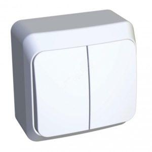 Выключатель о/у 2кл (белый) (250В, 10АХ) ВА10-002В Серия ЭТЮД, Schneider