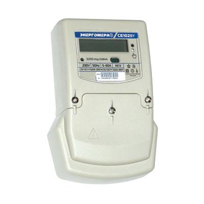 Счетчик электрической энергии электронный 1ф СЕ-102 S6 145 AKV(1,0) 5-60А/230В