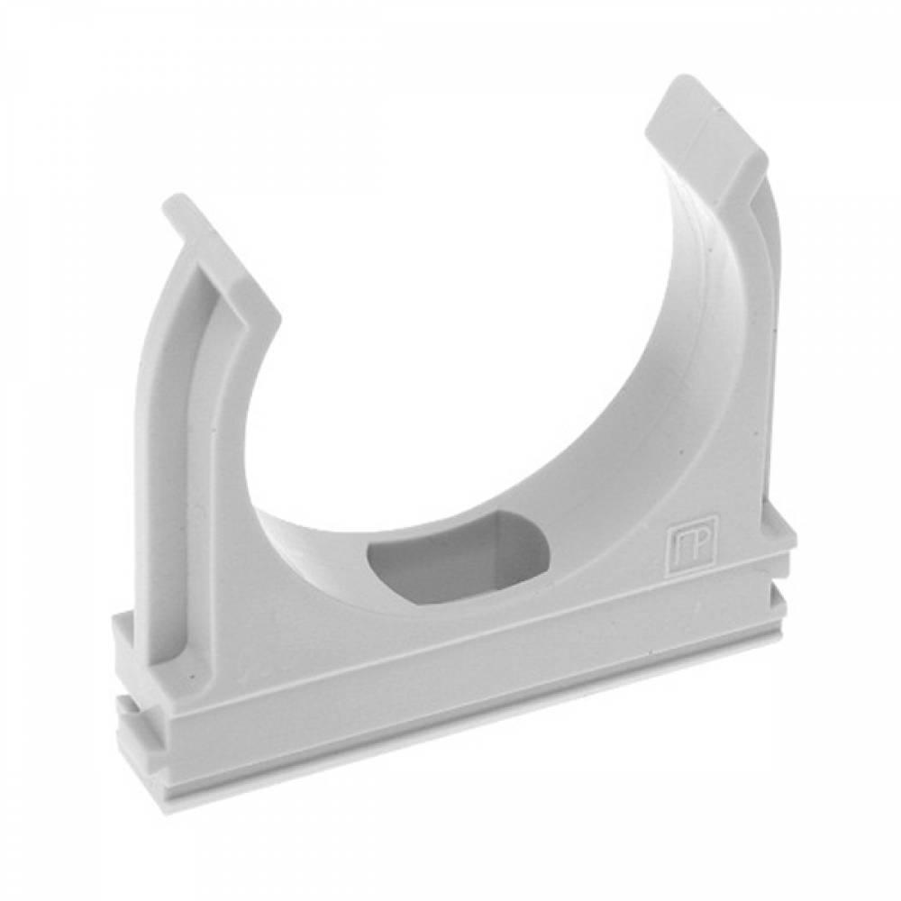 Крепеж-клипса для труб д.16 мм серая